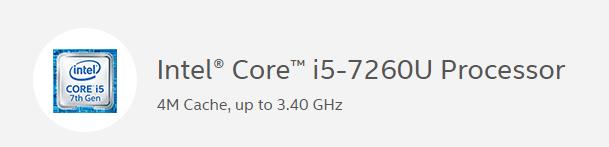 7th Generation Intel® Core™ i5 Processors